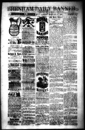 Primary view of object titled 'Brenham Daily Banner. (Brenham, Tex.), Vol. 10, No. 31, Ed. 1 Tuesday, February 17, 1885'.