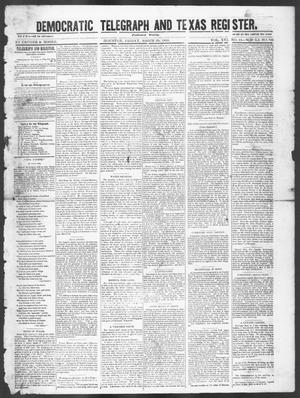 Primary view of object titled 'Democratic Telegraph and Texas Register. (Houston, Tex.), Vol. 16, No. 13, Ed. 1, Friday, March 28, 1851'.