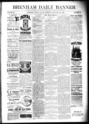 Primary view of object titled 'Brenham Daily Banner. (Brenham, Tex.), Vol. 11, No. 20, Ed. 1 Sunday, January 24, 1886'.