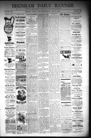 Primary view of object titled 'Brenham Daily Banner. (Brenham, Tex.), Vol. 8, No. 149, Ed. 1 Saturday, June 23, 1883'.