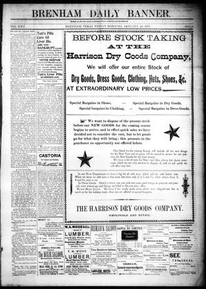 Primary view of object titled 'Brenham Daily Banner. (Brenham, Tex.), Vol. 22, No. 14, Ed. 1 Friday, January 15, 1897'.