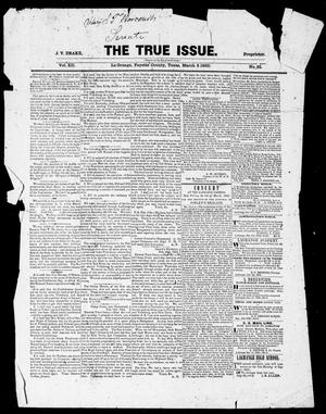 The True Issue (La Grange, Tex.), Vol. 12, No. 35, Ed. 1, Thursday, March 5, 1863