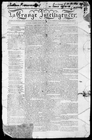 Primary view of object titled 'La Grange Intelligencer (La Grange, Tex.), Vol. 1, No. 24, Ed. 1, Thursday, July 4, 1844'.