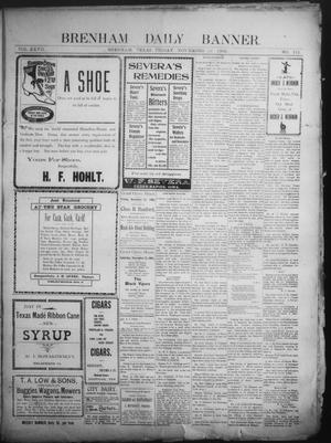 Primary view of object titled 'Brenham Daily Banner. (Brenham, Tex.), Vol. 27, No. 212, Ed. 1 Friday, November 14, 1902'.