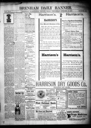Primary view of object titled 'Brenham Daily Banner. (Brenham, Tex.), Vol. 22, No. 251, Ed. 1 Wednesday, October 13, 1897'.