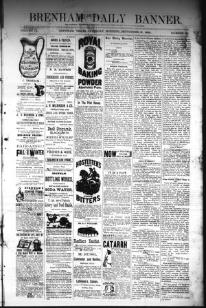 Primary view of object titled 'Brenham Daily Banner. (Brenham, Tex.), Vol. 9, No. 231, Ed. 1 Saturday, September 13, 1884'.