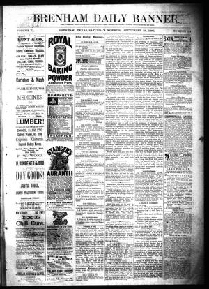 Primary view of object titled 'Brenham Daily Banner. (Brenham, Tex.), Vol. 11, No. 124, Ed. 1 Saturday, September 18, 1886'.