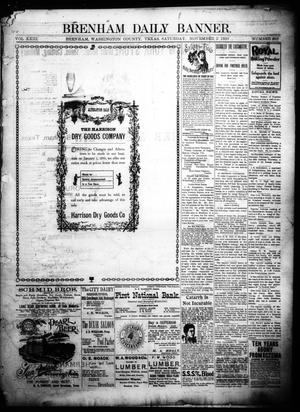 Primary view of object titled 'Brenham Daily Banner. (Brenham, Tex.), Vol. 23, No. 268, Ed. 1 Saturday, November 5, 1898'.