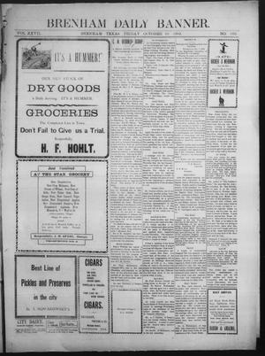 Primary view of object titled 'Brenham Daily Banner. (Brenham, Tex.), Vol. 27, No. 183, Ed. 1 Friday, October 10, 1902'.