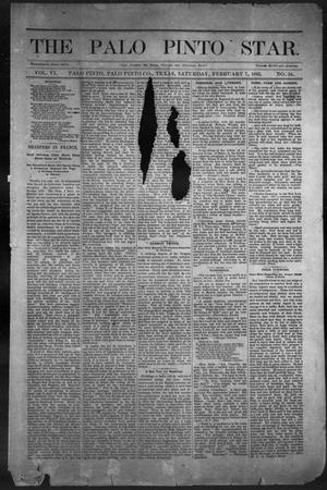 Primary view of object titled 'The Palo Pinto Star. (Palo Pinto, Tex.), Vol. 6, No. 34, Ed. 1, Saturday, February 7, 1885'.