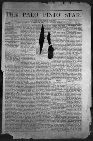 Primary view of object titled 'The Palo Pinto Star (Palo Pinto, Tex.), Vol. 6, No. 35, Ed. 1, Saturday, February 14, 1885'.