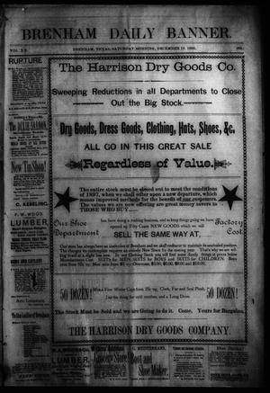 Primary view of object titled 'Brenham Daily Banner. (Brenham, Tex.), Vol. 20, No. 284, Ed. 1 Saturday, December 19, 1896'.