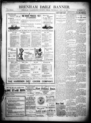 Primary view of object titled 'Brenham Daily Banner. (Brenham, Tex.), Vol. 23, No. 116, Ed. 1 Thursday, May 12, 1898'.
