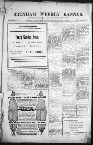 Primary view of object titled 'Brenham Weekly Banner. (Brenham, Tex.), Vol. 42, No. 2, Ed. 1 Thursday, January 10, 1907'.
