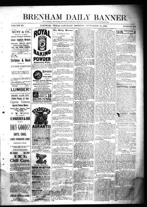 Primary view of object titled 'Brenham Daily Banner. (Brenham, Tex.), Vol. 11, No. 130, Ed. 1 Saturday, September 25, 1886'.