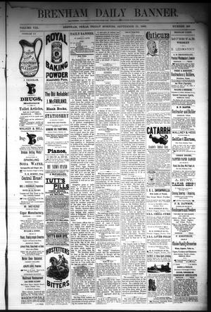 Primary view of object titled 'Brenham Daily Banner. (Brenham, Tex.), Vol. 8, No. 226, Ed. 1 Friday, September 21, 1883'.