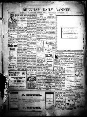 Primary view of object titled 'Brenham Daily Banner. (Brenham, Tex.), Vol. 24, No. 275, Ed. 1 Wednesday, November 8, 1899'.