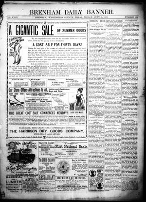 Primary view of object titled 'Brenham Daily Banner. (Brenham, Tex.), Vol. 23, No. 164, Ed. 1 Friday, July 8, 1898'.