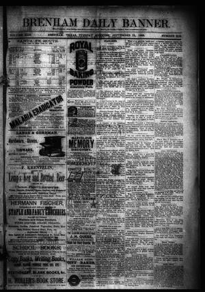 Primary view of object titled 'Brenham Daily Banner. (Brenham, Tex.), Vol. 13, No. 212, Ed. 1 Tuesday, September 11, 1888'.