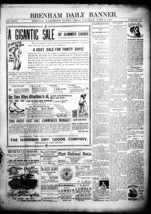 Primary view of object titled 'Brenham Daily Banner. (Brenham, Tex.), Vol. 23, No. 153, Ed. 1 Saturday, June 25, 1898'.