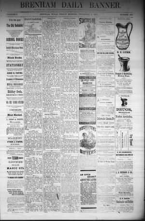 Primary view of object titled 'Brenham Daily Banner. (Brenham, Tex.), Vol. 6, No. 264, Ed. 1 Friday, November 4, 1881'.