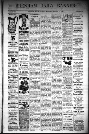 Primary view of object titled 'Brenham Daily Banner. (Brenham, Tex.), Vol. 8, No. 247, Ed. 1 Monday, October 15, 1883'.
