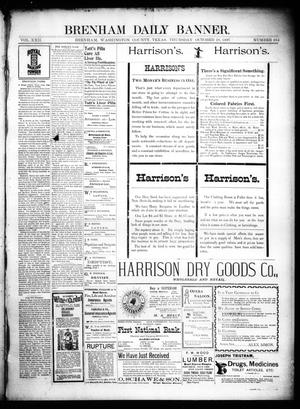 Primary view of object titled 'Brenham Daily Banner. (Brenham, Tex.), Vol. 22, No. 264, Ed. 1 Thursday, October 28, 1897'.