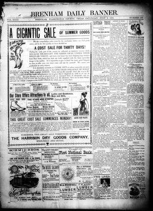 Primary view of object titled 'Brenham Daily Banner. (Brenham, Tex.), Vol. 23, No. 165, Ed. 1 Saturday, July 9, 1898'.