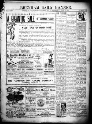 Primary view of object titled 'Brenham Daily Banner. (Brenham, Tex.), Vol. 23, No. 163, Ed. 1 Thursday, July 7, 1898'.