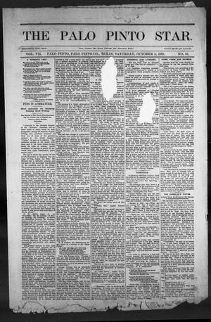 Primary view of object titled 'The Palo Pinto Star (Palo Pinto, Tex.), Vol. 7, No. 16, Ed. 1, Saturday, October 3, 1885'.