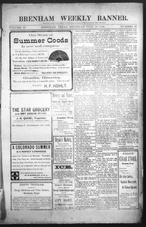 Primary view of object titled 'Brenham Weekly Banner. (Brenham, Tex.), Vol. 39, No. 28, Ed. 1 Thursday, July 20, 1905'.