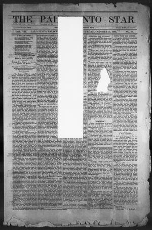 Primary view of object titled 'The Palo Pinto Star (Palo Pinto, Tex.), Vol. 7, No. 18, Ed. 1, Saturday, October 17, 1885'.