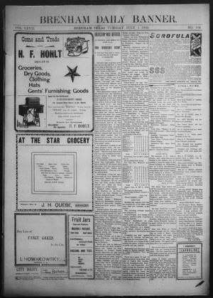 Primary view of object titled 'Brenham Daily Banner. (Brenham, Tex.), Vol. 27, No. 106, Ed. 1 Tuesday, July 1, 1902'.