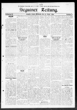 Primary view of object titled 'Seguiner Zeitung. (Seguin, Tex.), Vol. 36, No. 4, Ed. 1 Wednesday, September 15, 1926'.