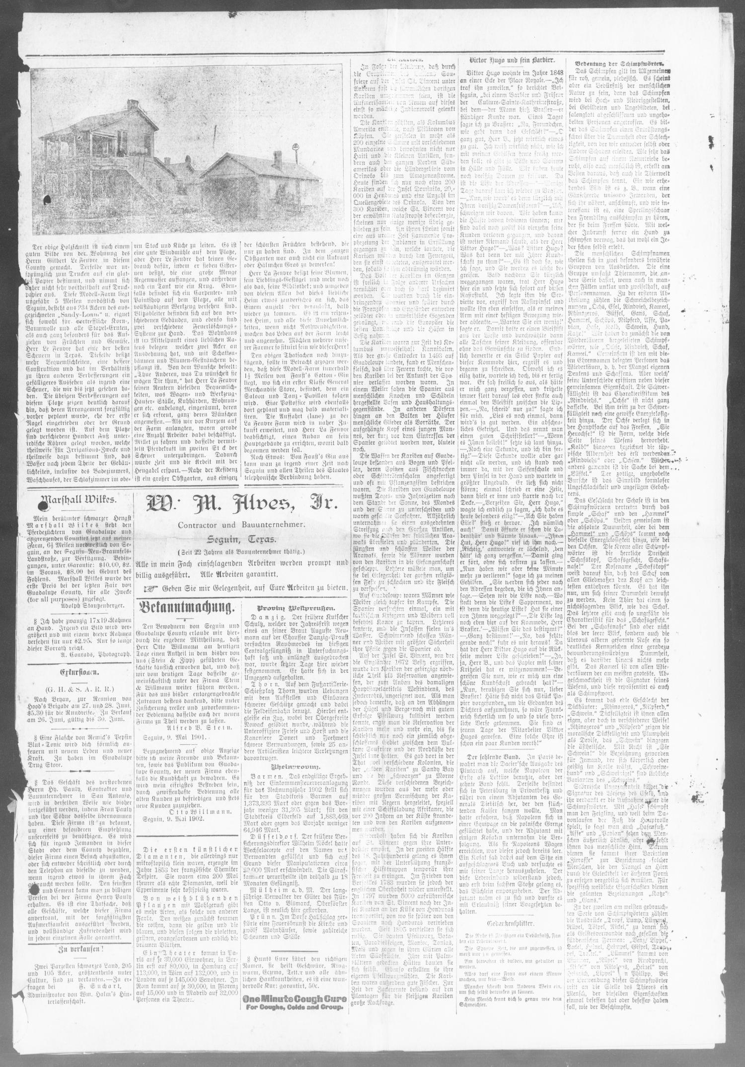 Seguin Zeitung. (Seguin, Tex.), Vol. 11, No. 48, Ed. 1 Friday, July 4, 1902                                                                                                      [Sequence #]: 3 of 8