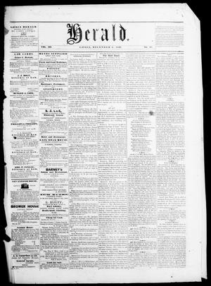 Herald. (Port Lavaca, Tex.), Vol. 3, No. 28, Ed. 1, Saturday, December 5, 1857