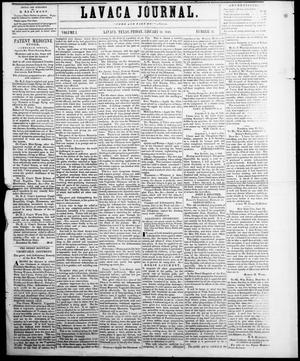 Primary view of object titled 'Lavaca Journal (Lavaca, Tex.), Vol. 1, No. 22, Ed. 1, Friday, January 14, 1848'.