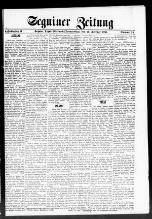 Primary view of Seguiner Zeitung (Seguin, Tex.), Vol. 40, No. 24, Ed. 1 Thursday, February 12, 1931