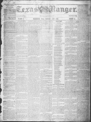 Primary view of Texas Ranger. (Washington, Tex.), Vol. 5, No. 44, Ed. 1, Thursday, June 1, 1854