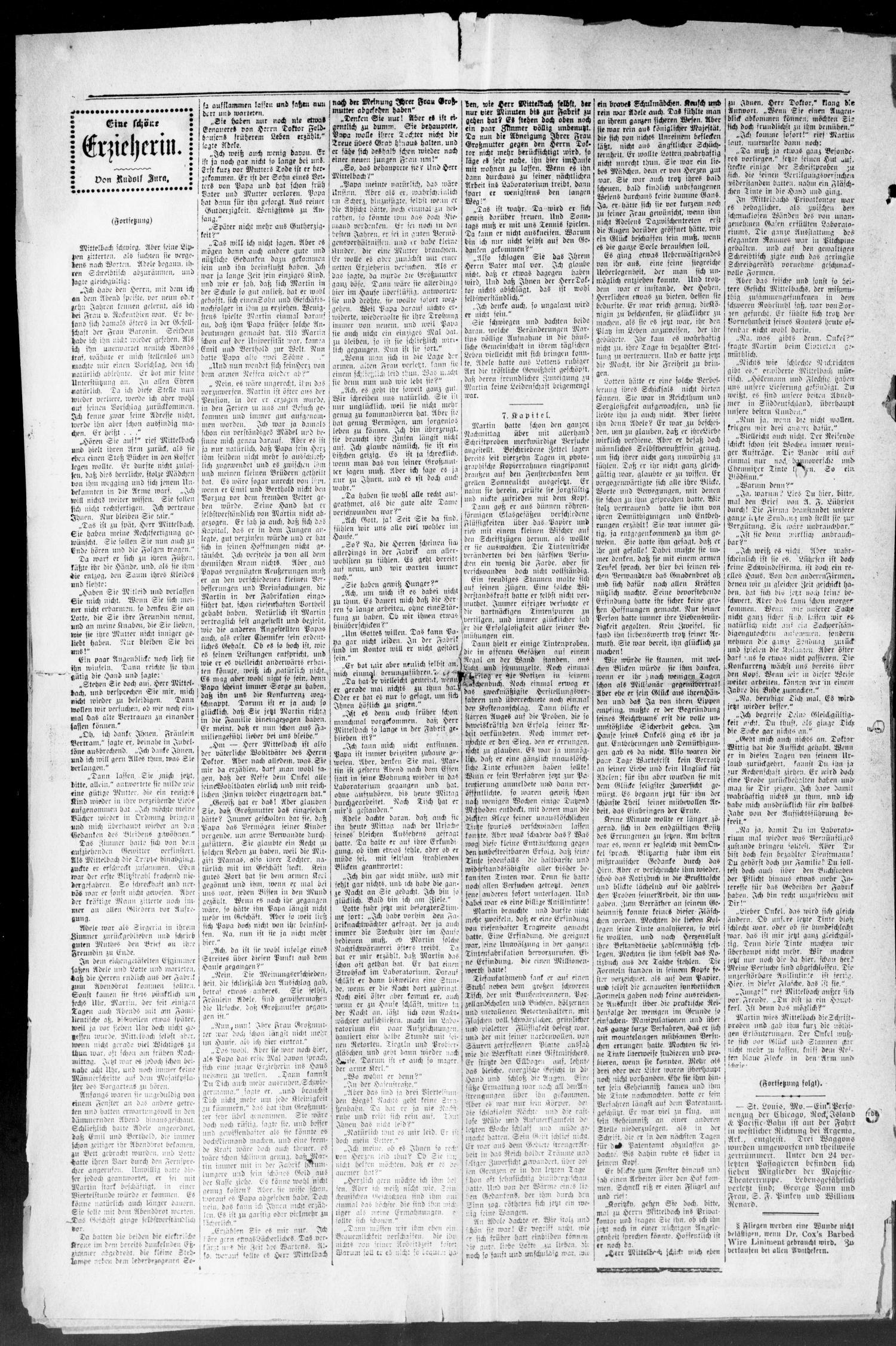 Seguiner Zeitung. (Seguin, Tex.), Vol. 19, No. 19, Ed. 1 Thursday, December 23, 1909                                                                                                      [Sequence #]: 2 of 8