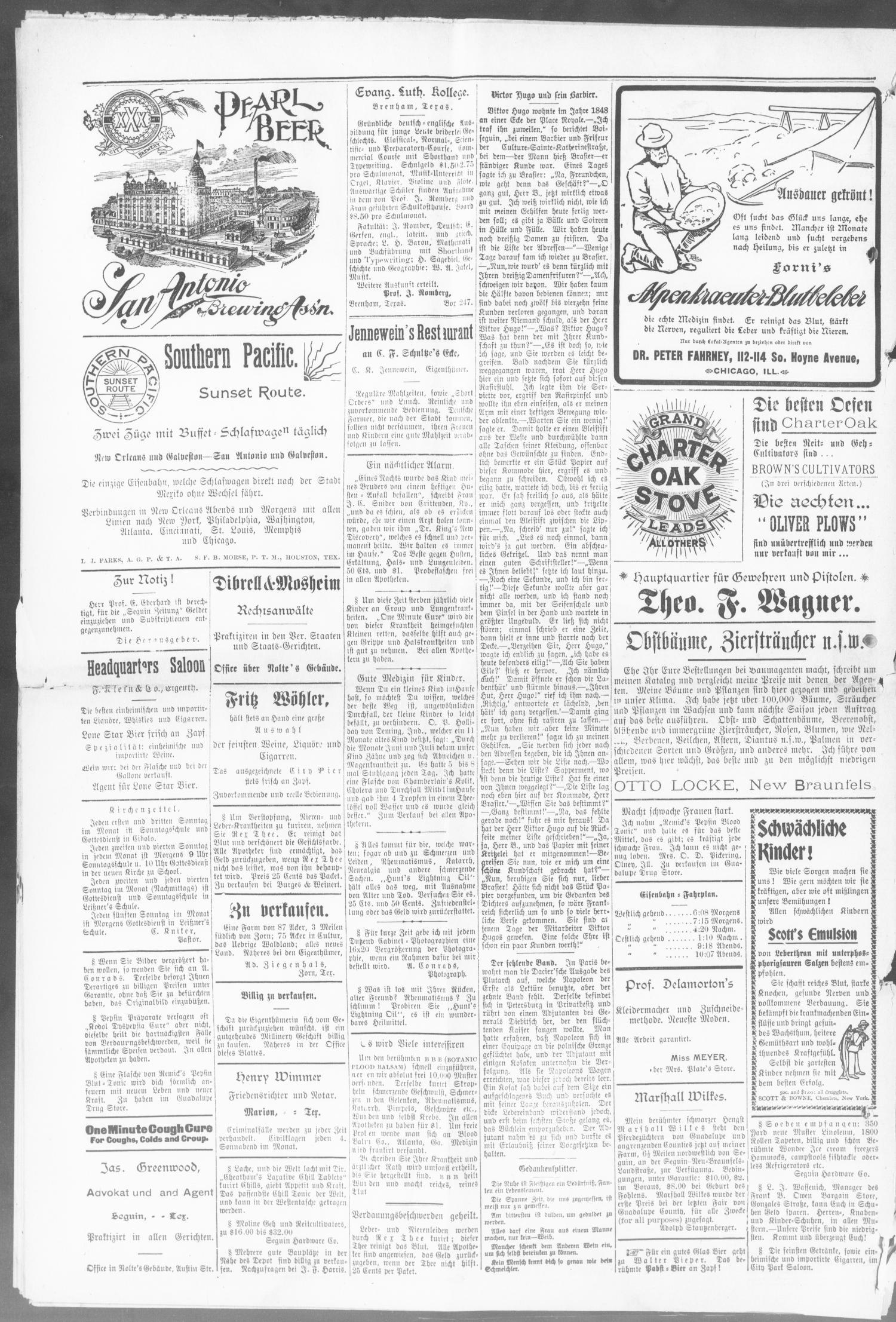 Seguin Zeitung. (Seguin, Tex.), Vol. 11, No. 41, Ed. 1 Thursday, May ...