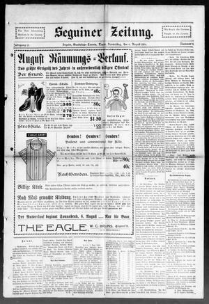 Primary view of Seguiner Zeitung. (Seguin, Tex.), Vol. 13, No. 51, Ed. 1 Thursday, August 4, 1904