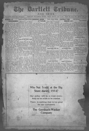 Primary view of object titled 'The Bartlett Tribune and News (Bartlett, Tex.), Vol. 28, No. 23, Ed. 1, Friday, January 2, 1914'.