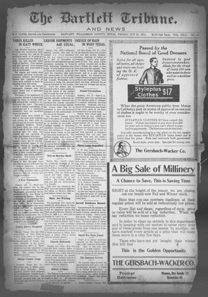 Primary view of object titled 'The Bartlett Tribune and News (Bartlett, Tex.), Vol. 29, No. 18, Ed. 1, Friday, October 23, 1914'.