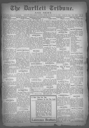 Primary view of object titled 'The Bartlett Tribune and News (Bartlett, Tex.), Vol. 29, No. 22, Ed. 1, Friday, November 20, 1914'.