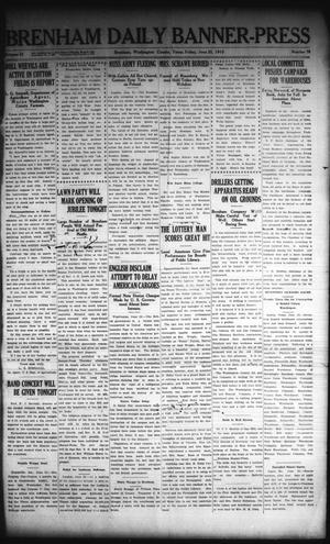 Primary view of Brenham Daily Banner-Press (Brenham, Tex.), Vol. 32, No. 76, Ed. 1 Friday, June 25, 1915