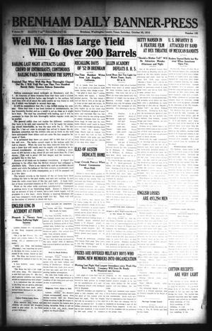 Primary view of Brenham Daily Banner-Press (Brenham, Tex.), Vol. 32, No. 181, Ed. 1 Saturday, October 30, 1915
