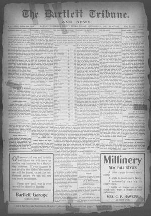 Primary view of object titled 'The Bartlett Tribune and News (Bartlett, Tex.), Vol. 33, No. 15, Ed. 1, Friday, September 20, 1918'.