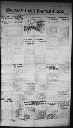 Primary view of Brenham Daily Banner-Press (Brenham, Tex.), Vol. 32, No. 300, Ed. 1 Wednesday, March 22, 1916