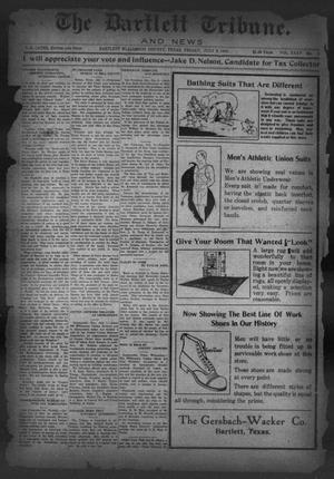 Primary view of object titled 'The Bartlett Tribune and News (Bartlett, Tex.), Vol. 35, No. 3, Ed. 1, Friday, July 9, 1920'.